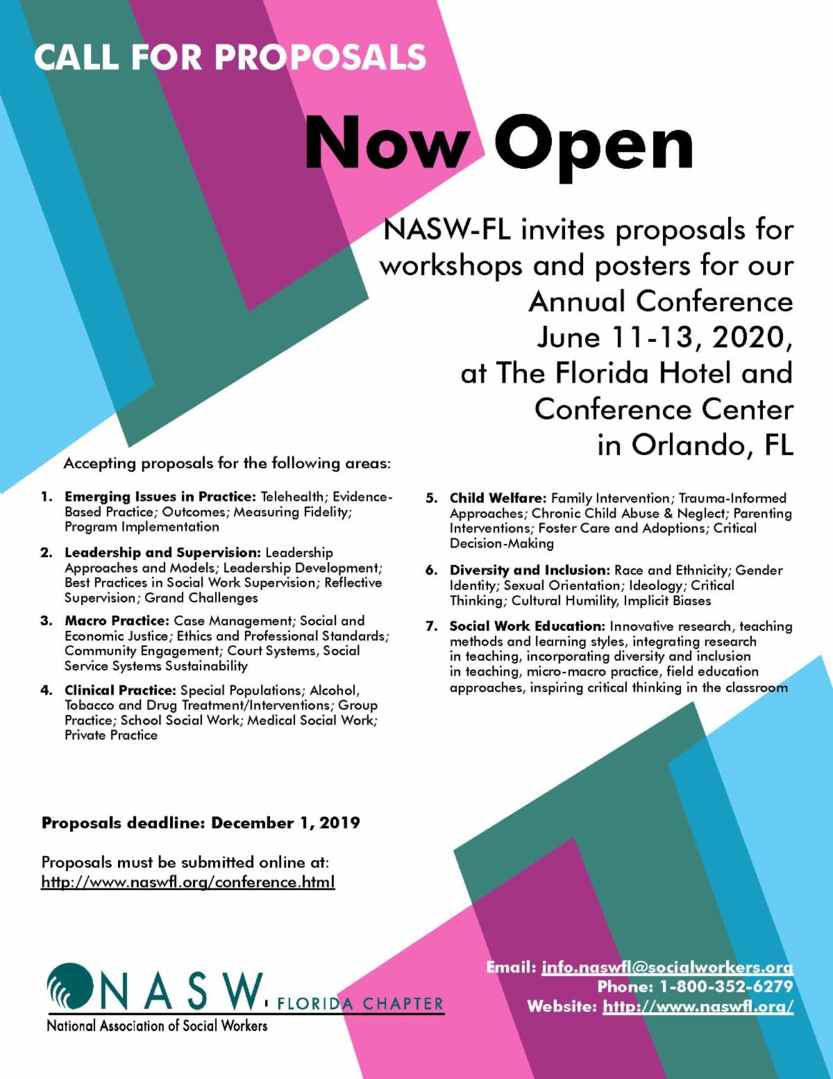 2020 Annual Conference Call for Proposals