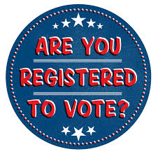 Are you registered to vote graphic