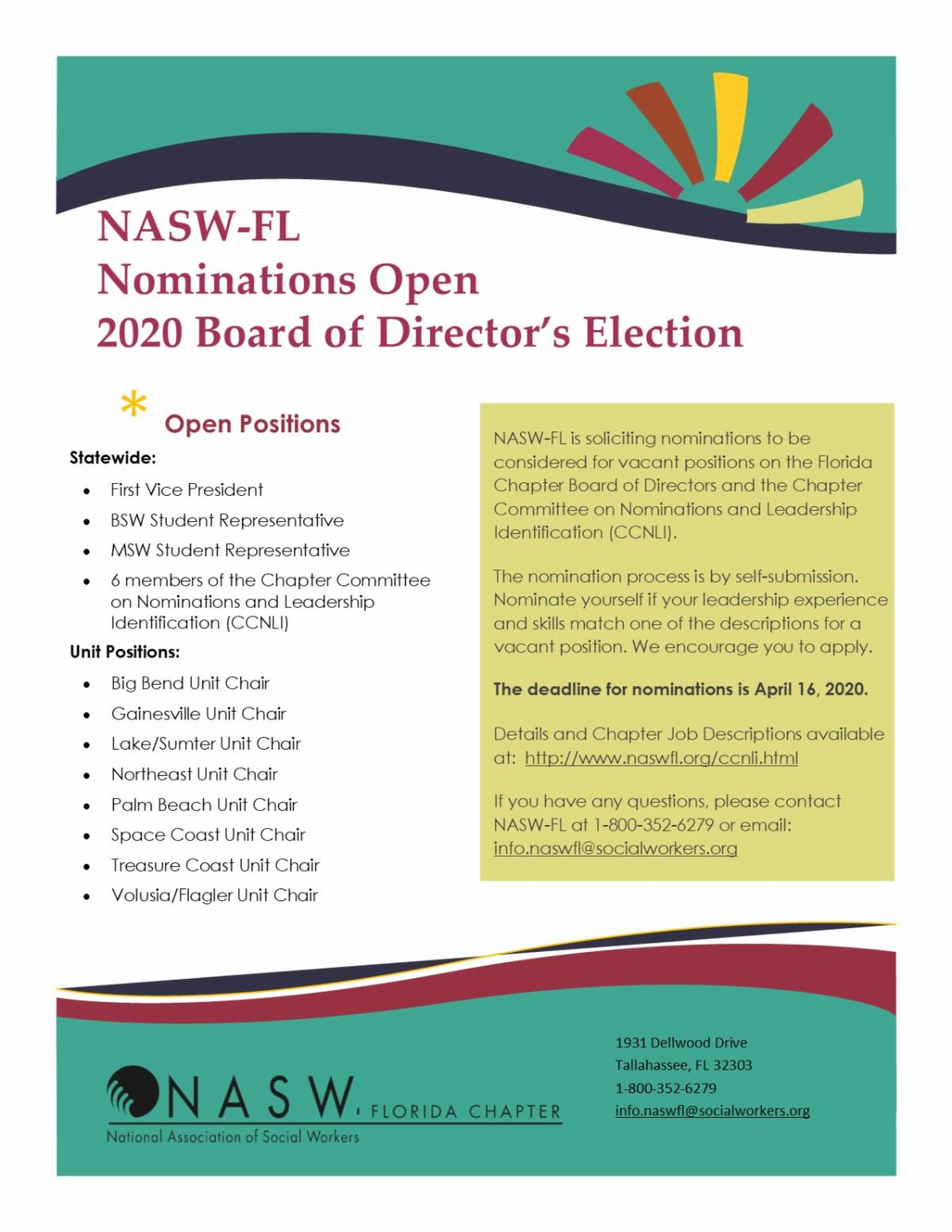 Nominations for Board of Directors Elections
