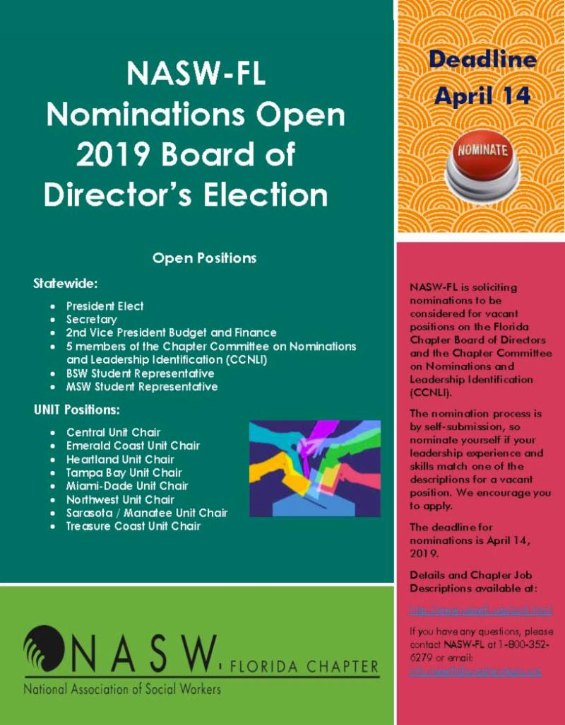 Nominations Open for Board of Directors Election