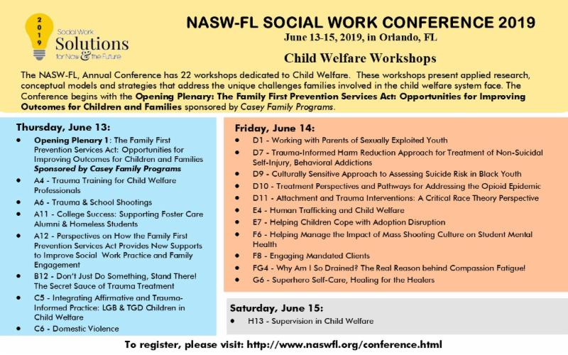 Child Welfare Workshops at the Conference