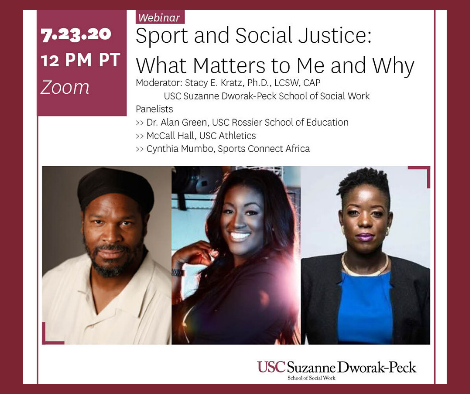 Sport and Social Justice flyer