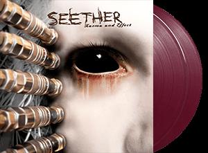 SEETHER KARMA & EFFECT 2 LP OPAQUE BURGUNDY VINYL