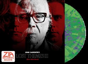 John Carpenter Lost Themes 3 Zia Exclusive Green with Neon Purple Splatter Vinyl