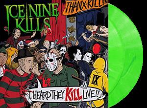 ICE NINE KILLS I HEARD THEY KILL LIVE 2 LP NEON GREEN MARBLE VINYL