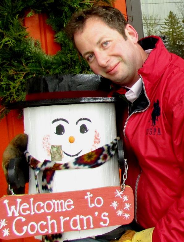 Tim & Mr. Snowman