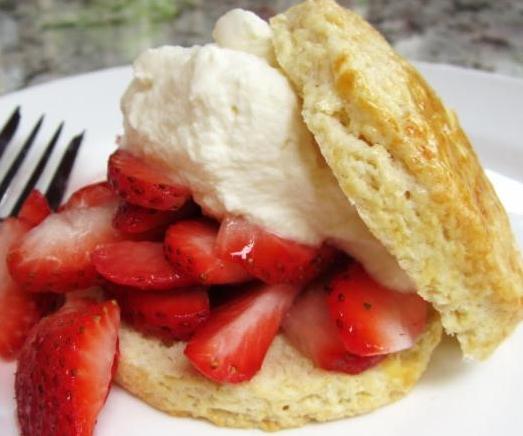 strawberries & biscuits