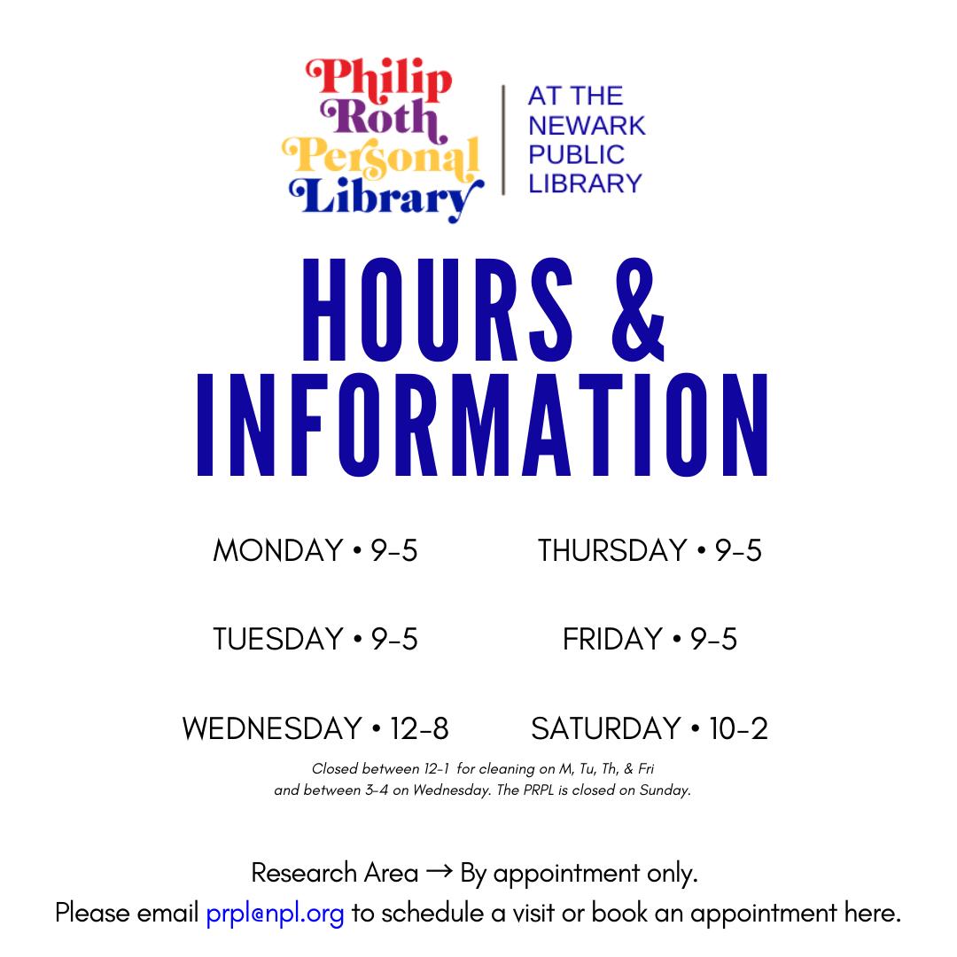 Monday 9-5 Tuesday 9-5 Wednesday 12-8 Thursday 9-5 Frid