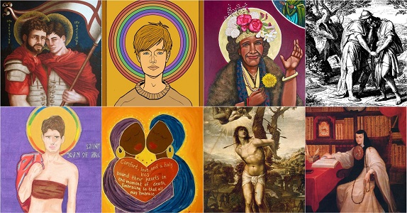 Collage of queer saints