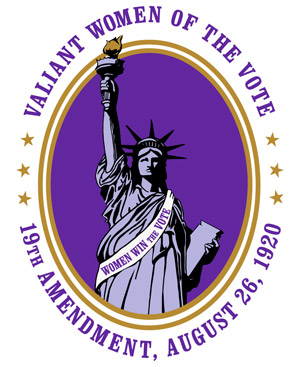 Valiant Women of the Vote 2020 Logo