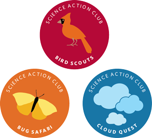 Science Action Club Emblems