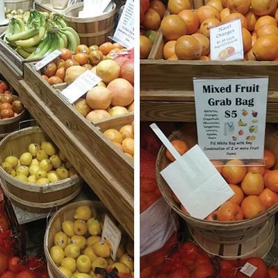 grab a bag of fruit