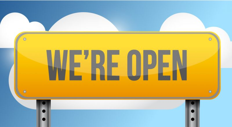 We're Open