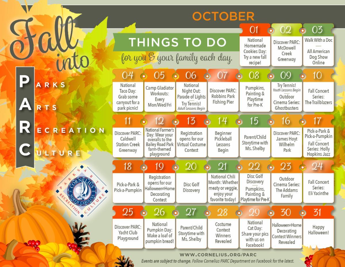 Fall into PARC October Calendar.Final