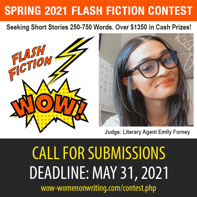 Spring Flash Fiction Contest with Guest Judge Literary Agent Emily Forney