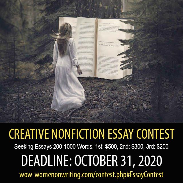 Creative Nonfiction Essay Contest - Deadline October 31