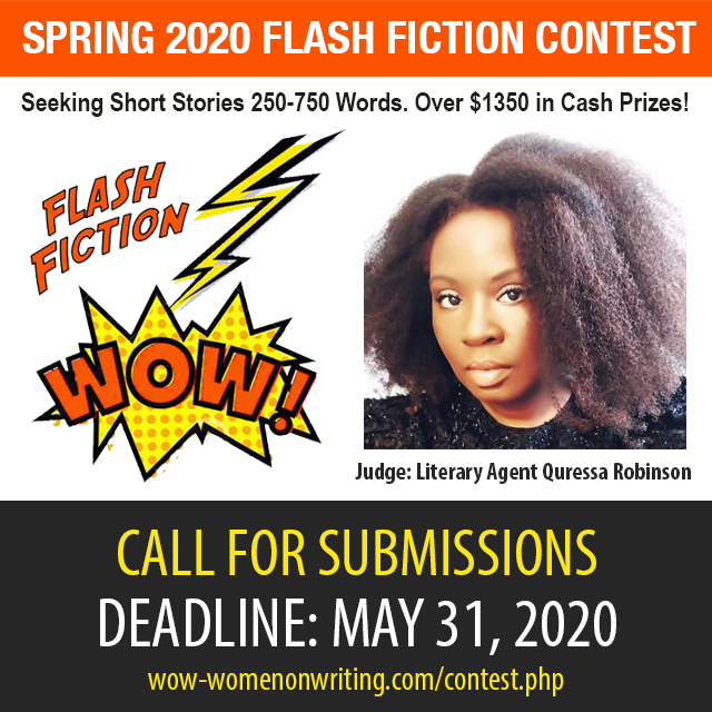 Spring Flash Fiction Contest with guest judge literary agent Quressa Robinson