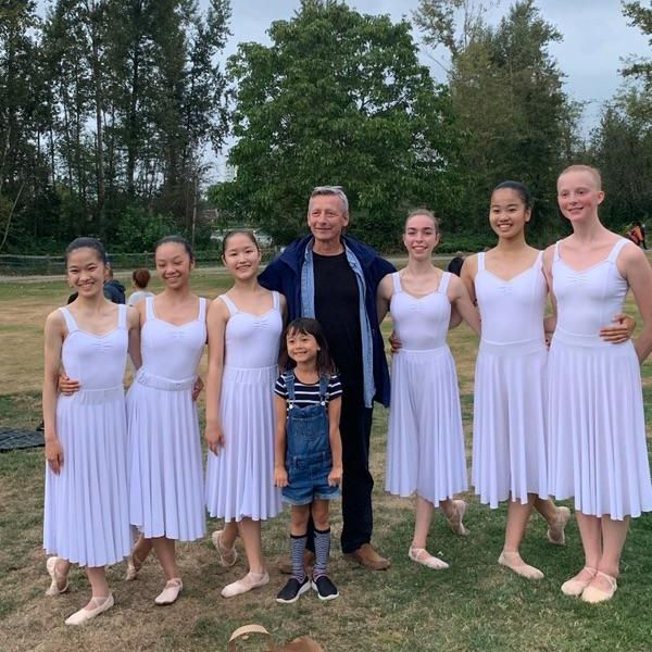 Summer students with Mr Carney at Symphony in the Park 2019 with AYO.