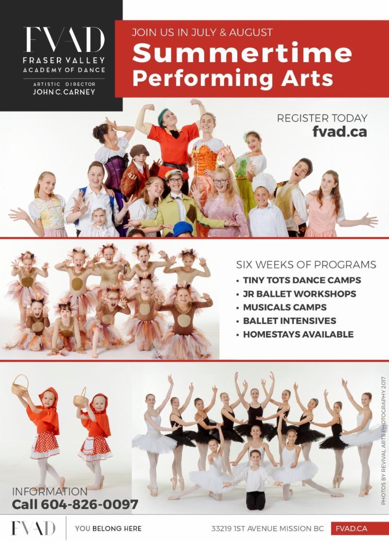 Summer 2018 Performing Arts Flyer A