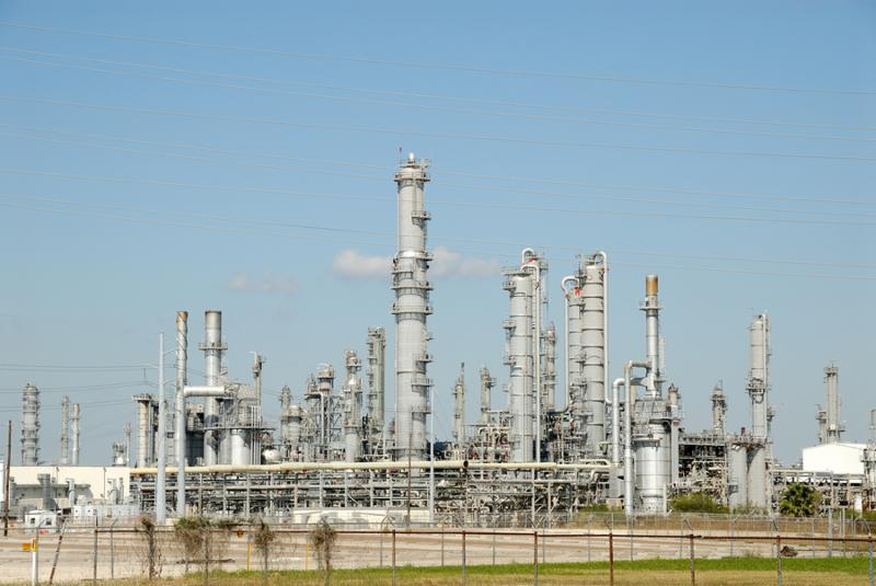 Modern oil refinery in southern Texas USA     Note  Slight graininess, best at smaller sizes
