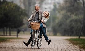 Older Couple Biking