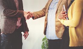 Casual Business Handshake