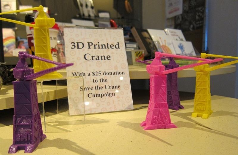 Crane replicas in BMI Gift Shop