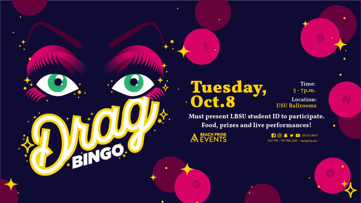 Drag Bingo will take place from 4 to 7 pm in the USU Ballrooms on October 8.