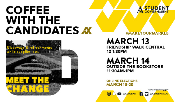 Coffee with the Candidates on March 13 and 14