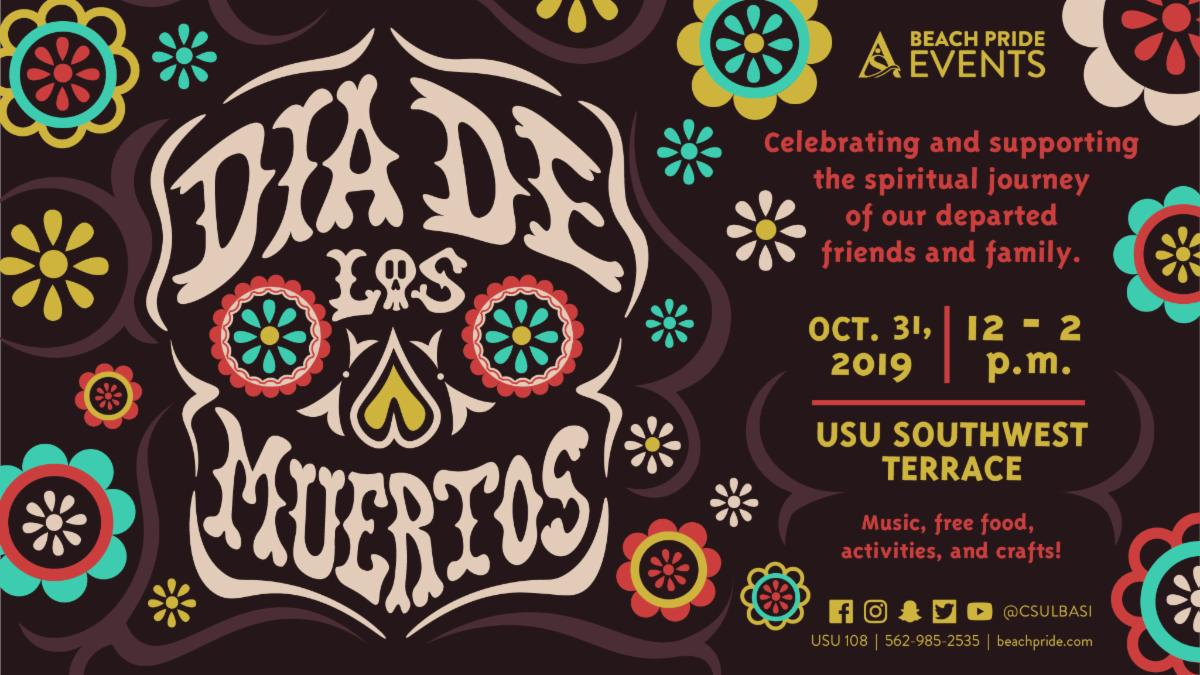 Celebrate & support the spiritual journey of our departed friends and family at Dia De Los Muertos on Oct. 31 from 12 to 2pm at the USU Southwest Terrace.