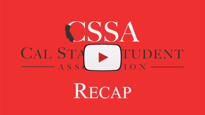 Click here to watch the California State Student Association recap video for their September Meeting
