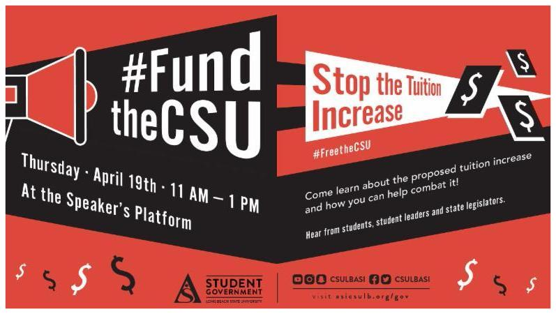 Fund the CSU tuition increase event