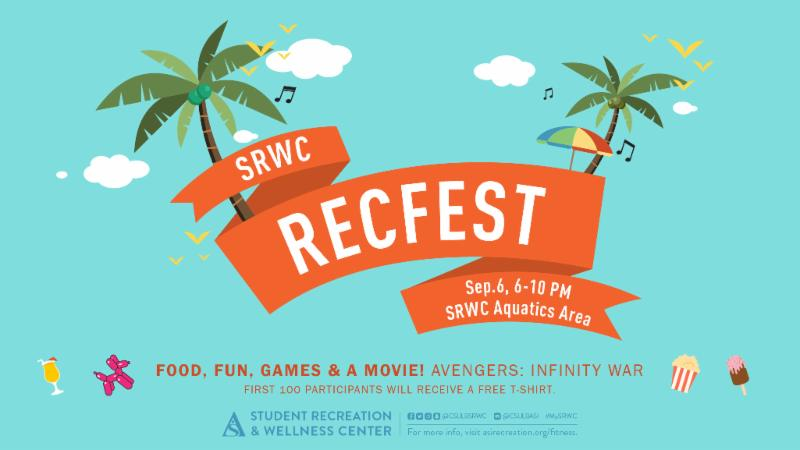 SRWC's RecFect will take place on Sept. 6 from 6 to 10 p.m.  at the SRWC Aquatics Area