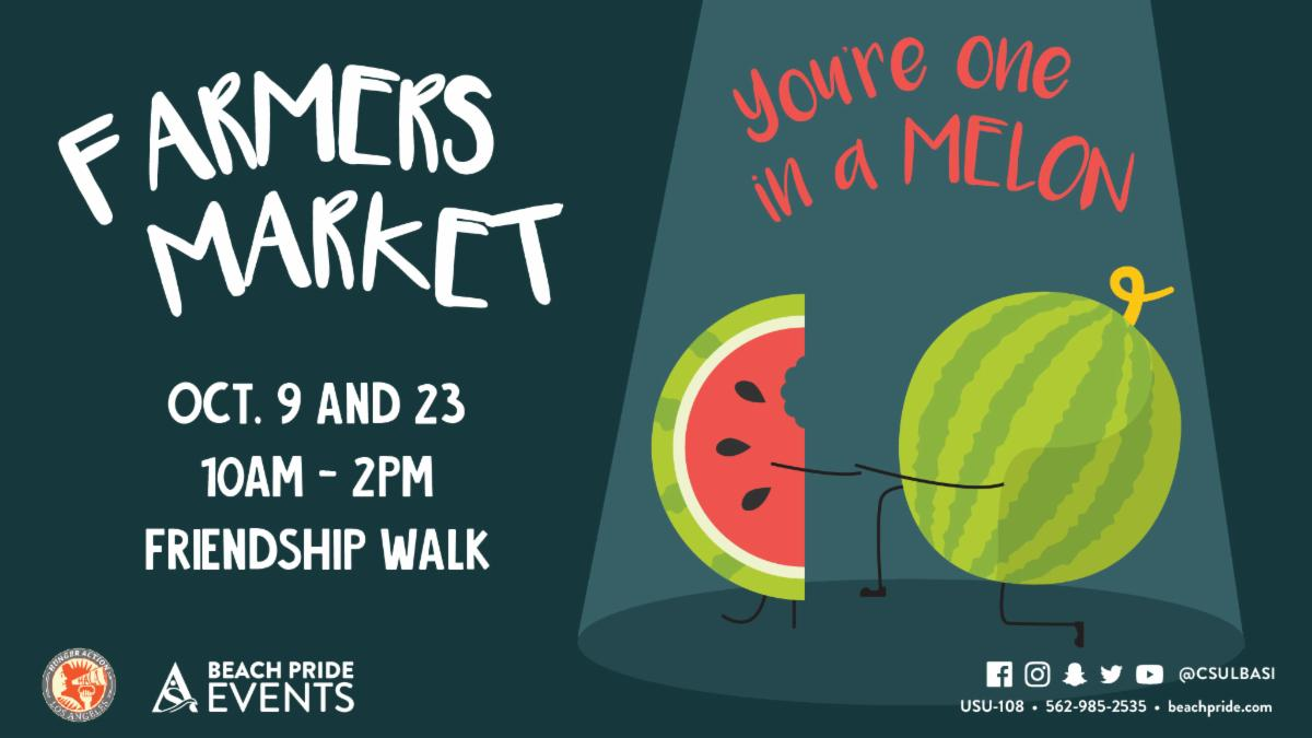 Come to the Farmers Market today from 10 am to 2 pm at Friendship Walk.