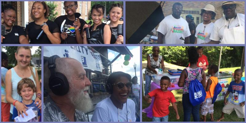 Grill masters_ dancers_ DJs_ and families ready for school -- everyone is all smiles_