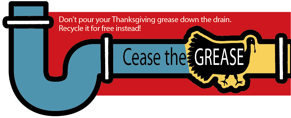 Cease the Grease turkey in pipe