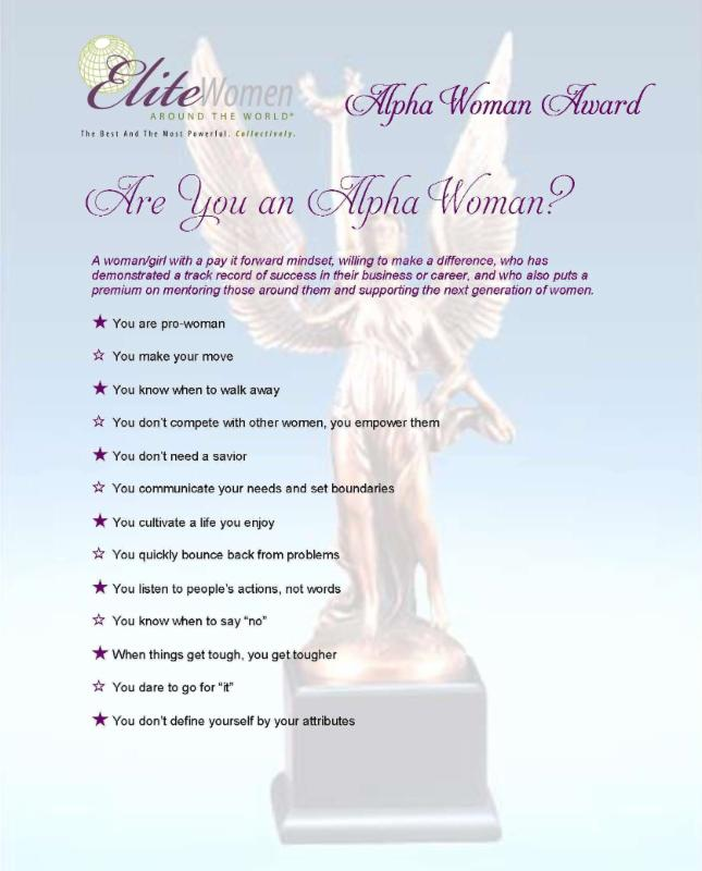 Submit Nominations for ALPHA Woman Awards to be Presented at