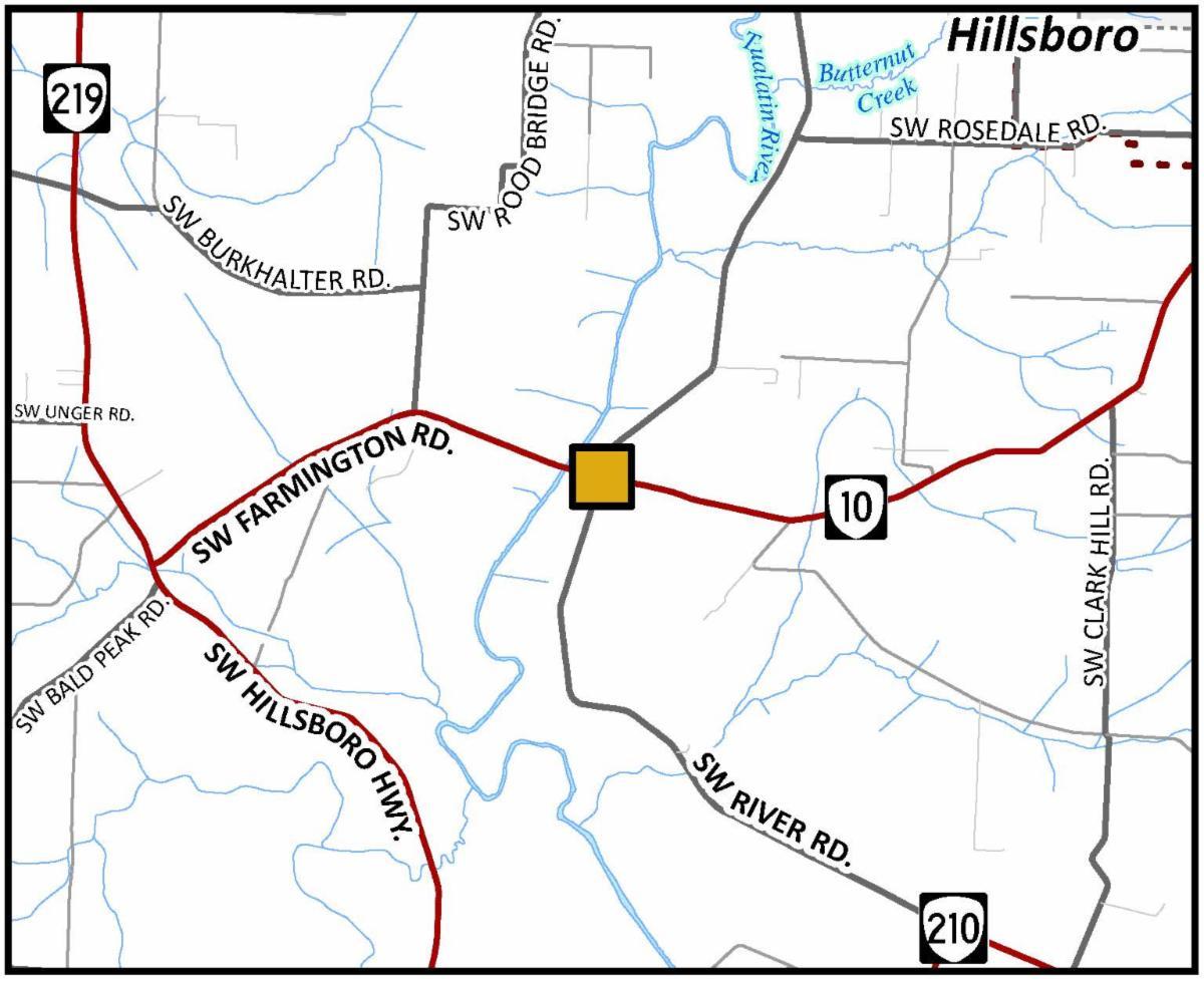Farmington and River roads intersection