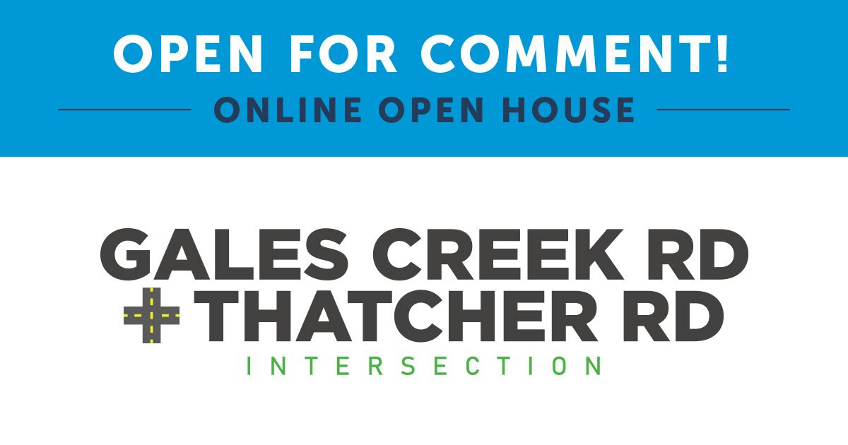 Gales Creek Thatcher open house