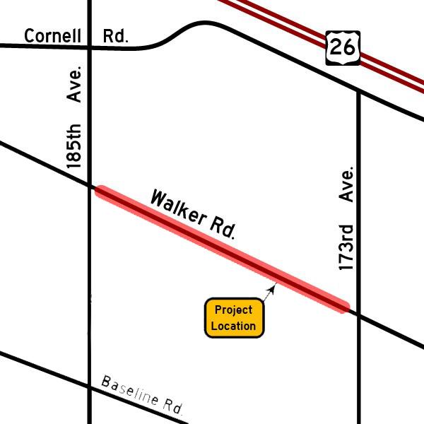 Walker Road map