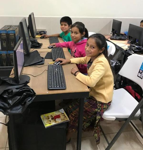 Students attend technology classes every week