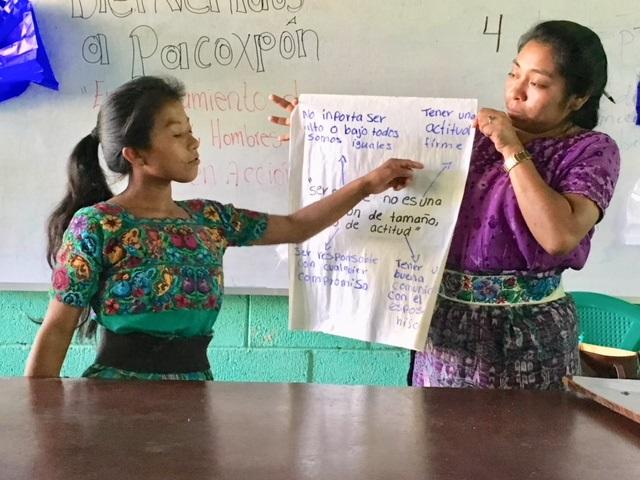 Elda explains what she's learned about gender equality and human rights.