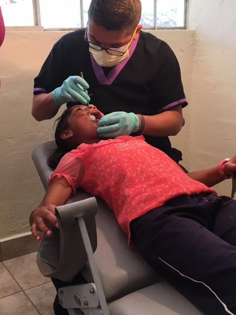 Dr. Cana seeing a patient in El Sapito