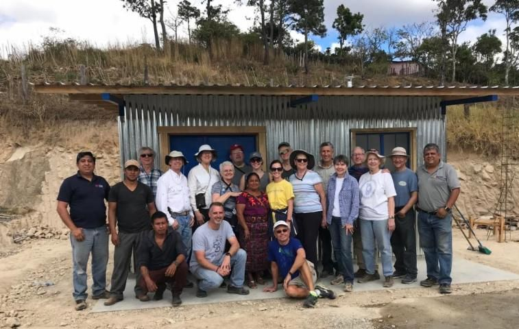 Southwood UCC in front of the school kitchen in La Plazuela January 2019