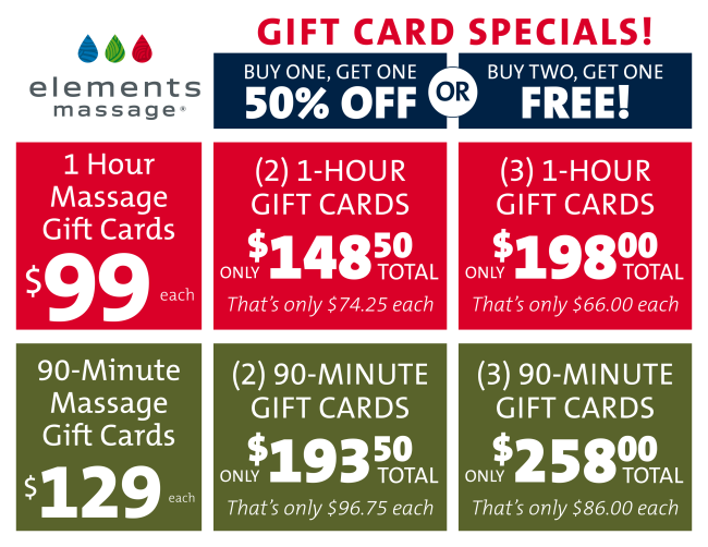 looking for a great christmas deal we have one bogo 12 off gift cards massage openings for fri sat dec 2nd 3rd - Christmas Gift Card Deals