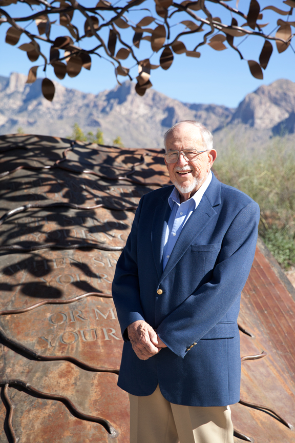 Dick Eggerding, chair of the Southern Arizona Veterans and First Responders Living Memorial Executive Board