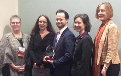 MHAC award at DPH conference, March 2017
