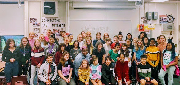 Congresswoman Betty McCollum with Murray Middle School students