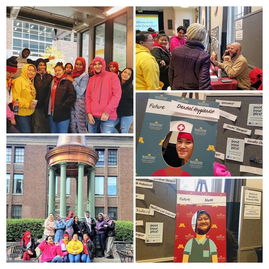 Students at MN Pre-Health Career Fair