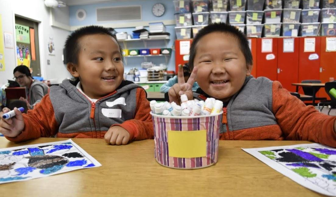 Maxfield Elementary School kindergarteners